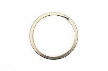 平リング<21mm>(5コ)真鍮製ニッケルメッキ