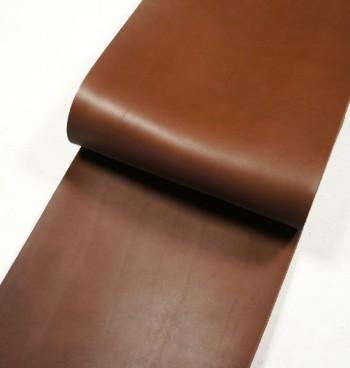 30cm巾カット販売・栃木レザー・クラシックヌメ<チョコ>