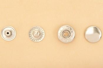 まとめ買い(B11)真鍮製バネホック<特大>8050 ニッケルメッキ