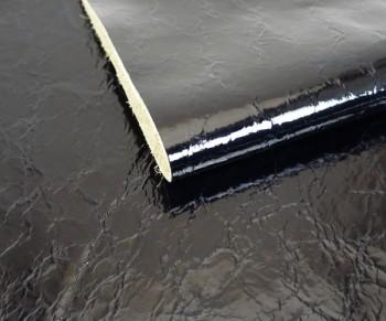 激安!裁ち革<牛エナメル調色革・ブラック>1530(15×30cm)