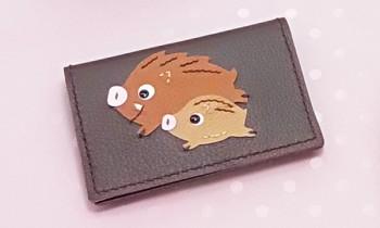 <いのしし親子の小物>カードケース