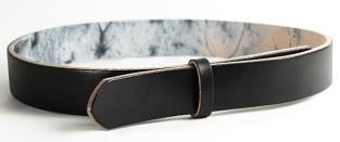 LCベンズグレーズドベルト(ブラック)・30L 長さ130cm<巾3.0cm(2.9cm実寸巾)>