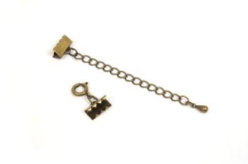 ブレスレット金具セット・金古美 (10mm)