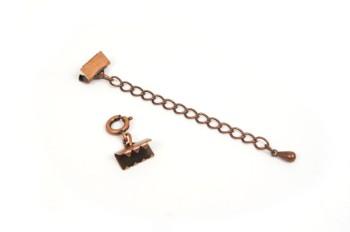 ブレスレット金具セット・銅古美(10mm)