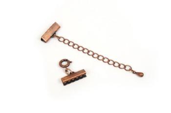 ブレスレット金具セット・銅古美(15mm)