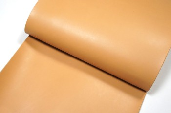 <OUTLET>30cm巾カット販売・牛色ヌメ革<ベージュ>(34デシ)