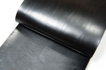 <OUTLET>30cm巾カット販売・牛色ヌメ革<ブラック>(31デシ)