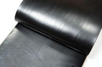 <OUTLET>30cm巾カット販売・牛ヌメ革<ブラック>