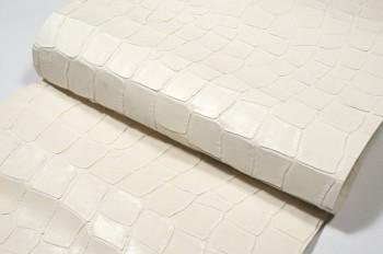 激安!30cm巾カット販売<牛色革型押し・ホワイト>(41デシ)