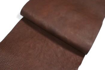 <OUTLET>30cm巾カット販売・牛ヌメソフト革<ダークブラウン>(27デシ)