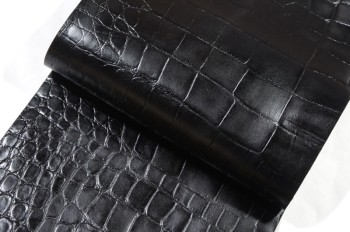激安!30 cm巾カット販売<牛色革型押し・ブラック>(34 デシ)