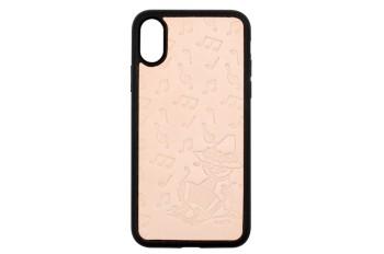 ムーミンレザークラフトキット・iPhone ケースX・XS 【スナフキン・アコーディオン】