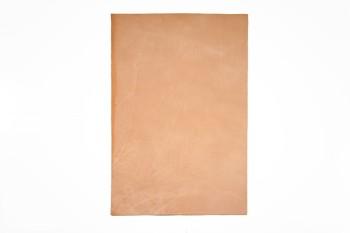 <オークション・アウトレット>⑤ヌメ革(ツヤなし)<無地> 裁ち革3656 厚さ:約1.1 mm