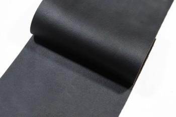 <OUTLET>30 cm巾カット販売・牛色ヌメ革<ブラック型押し>