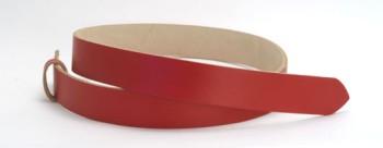LCレッドサーファスレザーベルト・40L 長さ130cm<巾4.0cm (3.9cm実寸巾)>
