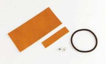 革のリボンキット<ストレート>(大)・カラ-ヌメ革タン(1セット入り)
