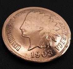 インディアンセントコインコンチョ<横顔>ネジ式