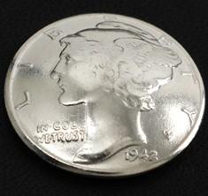 オールドマーキュリー1916~1945コインコンチョ<横顔>ネジ式