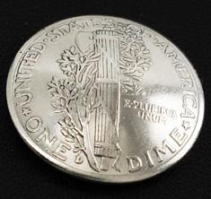 オールドマーキュリー1916~1945コインコンチョ<ダイム>ボタンループ式