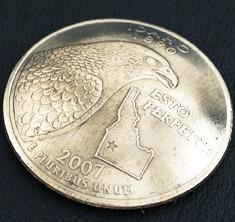 アイダホ州クウォーターニッケルコインコンチョ ネジ式
