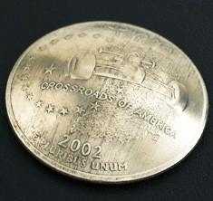 インディアナ州クウォーターニッケルコインコンチョ ボタンループ式