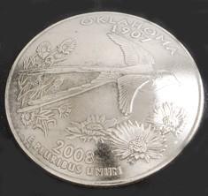 オクラホマ州クウォーターニッケルコインコンチョ ネジ式
