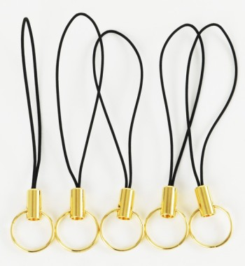 携帯ストラップ金具Lリング・リングの直径10mm