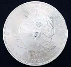 ダイヤモンド1個入りオールドモーガンコインコンチョ1921ネジ式