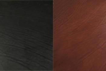 LCダブルショルダー(ブラック・ダークブラウン)  裁ち革(ハガキサイズ10×14.8 cm)
