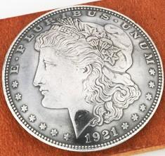 オールドモーガンコインコンチョ1921<時価>(いぶし銀タイプB)ボタンループ式