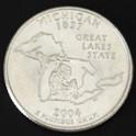 ミシガン州クウォーターニッケルコイン