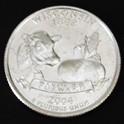 ウィスコンシン州クウォーターニッケルコイン