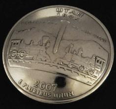 ユタ州クウォーターニッケルコインコンチョ ボタンループ式